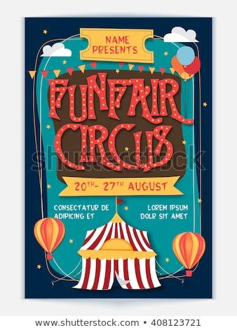 Circo diversión justo parque de atracciones plantilla ilustración Foto stock © bluering