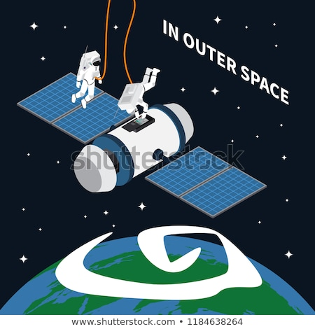 Collection Of Space Exploring Elements Set Vector Stock photo © pikepicture
