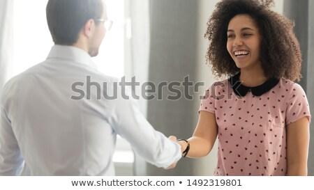 Eindruck Management Banner Kopfzeile Persönlichkeitsentwicklung Verbesserung Stock foto © RAStudio