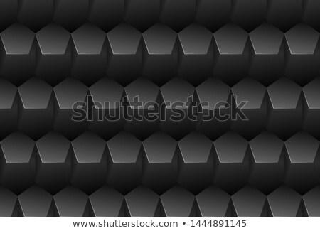вектора черный шаблон пластиковых пятиугольник сетке Сток-фото © Iaroslava