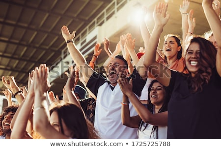 Exciting football match Stock photo © jossdiim