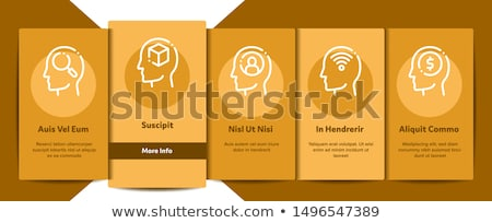 mind elements signs vector onboarding stock photo © pikepicture