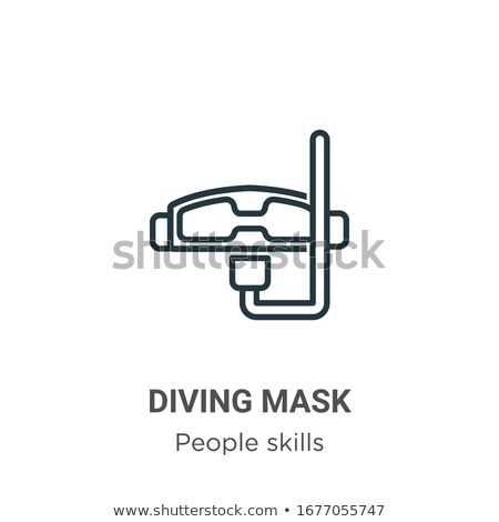 people diving in swimwear mask and tube vector stock photo © robuart