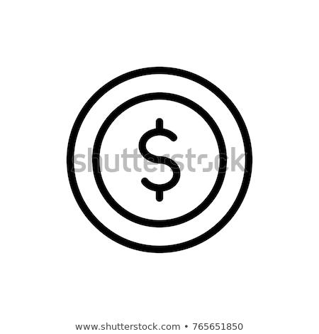 Financiële website dollarteken vector icon dun Stockfoto © pikepicture