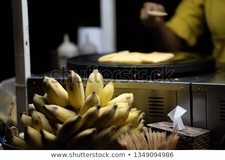 Bananas in the Vietnamese market. Asian cuisine concept Stock photo © galitskaya