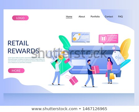 Discount and loyalty card landing page template. Stock photo © RAStudio