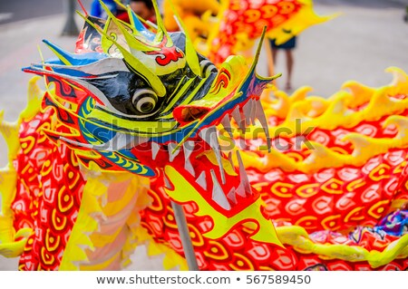 Lunar new year Asian dragon coming vietnamese new year Stock photo © galitskaya
