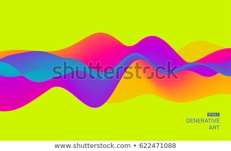 Hareketli renkli soyut dinamik etki tasarım şablonu Stok fotoğraf © fresh_5265954