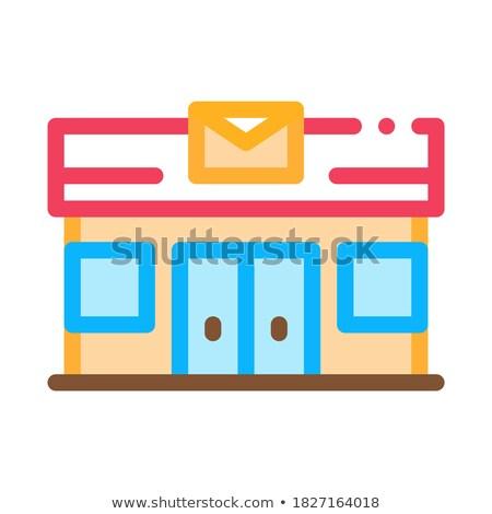 почты · транспорт · компания · икона · вектора · тонкий - Сток-фото © pikepicture