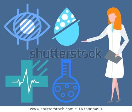 fisica · colore · icone · scienza · medici - foto d'archivio © robuart