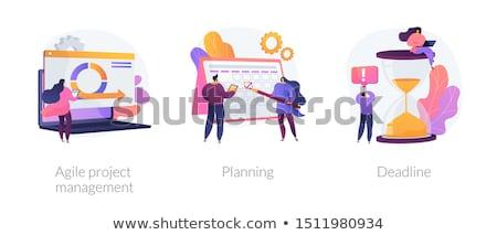Zwinny projektu zarządzania wektora metafory oprogramowania Zdjęcia stock © RAStudio