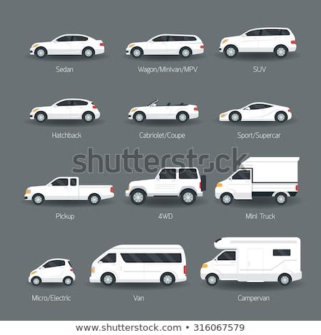 Araba yalıtılmış beyaz kabriyole sedan iki Stok fotoğraf © robuart