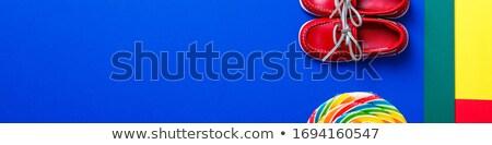 Banner klein Rood boot schoenen groot Stockfoto © Illia