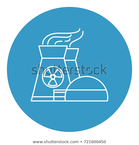 Generating Atomic Plant Vector Thin Line Icon Stock photo © pikepicture