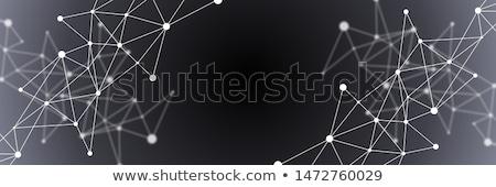 Blanc noir résumé futuriste illustration gris Photo stock © karetniy