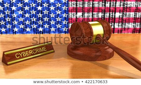 Gavel  In Front Of US Flag Stock photo © AndreyPopov