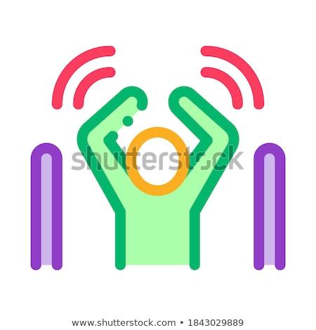 Man niet waarschuwing signaal icon vector Stockfoto © pikepicture