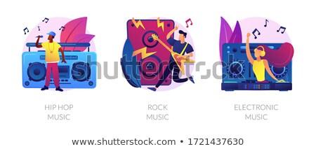 Népszerű zene stílusok vektor metaforák retro Stock fotó © RAStudio