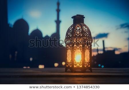 happy ramadan kareem decorative islamic lamps background Stock photo © SArts