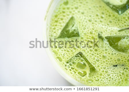 Matcha powder, latte with milk and cold drink Stock photo © furmanphoto