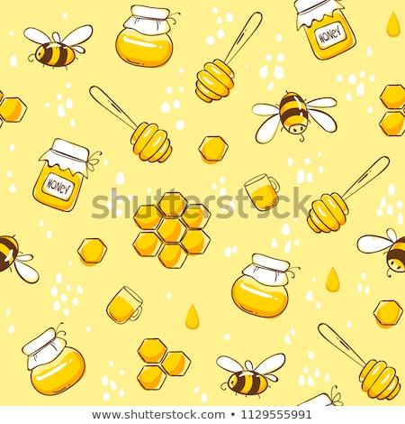 Vettore ape a nido d'ape fiore vettore fiore Foto d'archivio © freesoulproduction