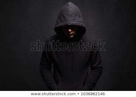 Közelkép portré veszélyes bűnöző törvény rendőrség Stock fotó © konradbak
