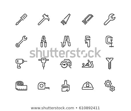 Trabalhar ferramentas os ícones do web usuário interface Foto stock © ayaxmr