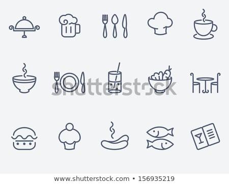 utensils for beverages icon set Stock photo © ayaxmr