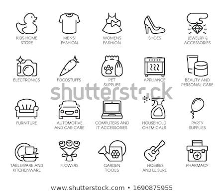 chemicals store icon set Stock photo © ayaxmr