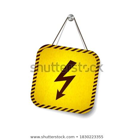Hoogspanning grunge opknoping touw geïsoleerd Stockfoto © evgeny89