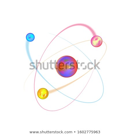 Kleurrijk atoom structuur heldere elektron witte Stockfoto © evgeny89
