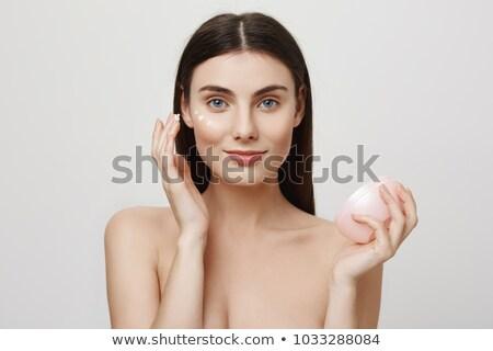 Nő pózol izolált bőr pamut fotó Stock fotó © deandrobot
