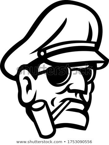 Ordu genel kafa sigara içme boru spor Stok fotoğraf © patrimonio