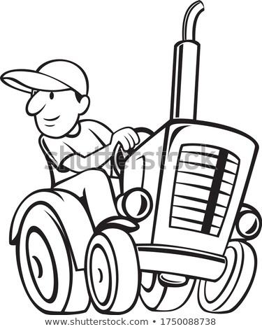 農家 ライディング 運転 ヴィンテージ ファーム トラクター ストックフォト © patrimonio