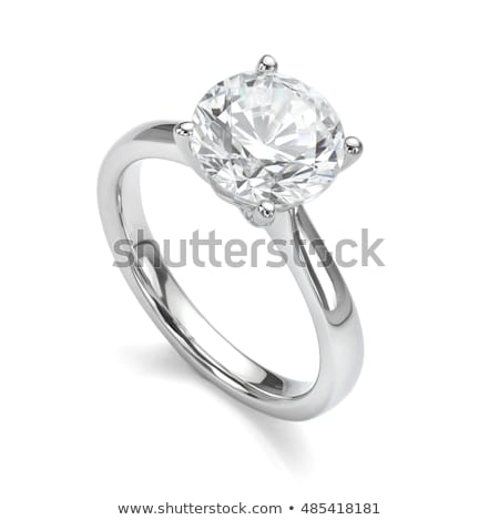 Platinum or silver rings with diamond Stock photo © oneo