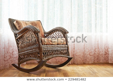 retro rocker wooden swing chair on wood floor Stock photo © ruslanshramko