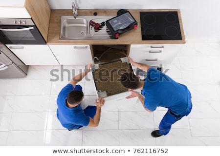 électrique appareil installation réparation maison femme Photo stock © AndreyPopov