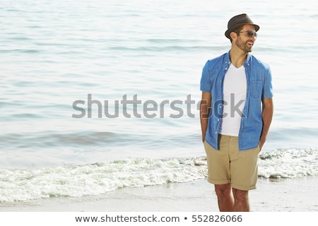 man on the beach stock photo © stryjek
