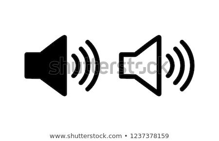 Orateur icône verre lumière design sonores Photo stock © oblachko