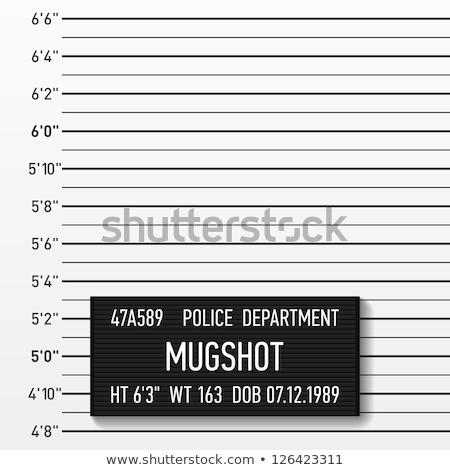 taza · tiro · cara · diseno · policía · retrato - foto stock © milmirko
