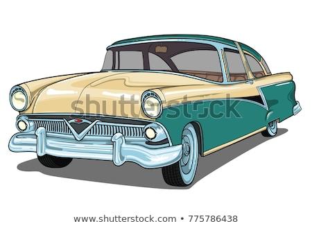 Bogár autó gyönyörű ajtók nyitva zöld Stock fotó © iko