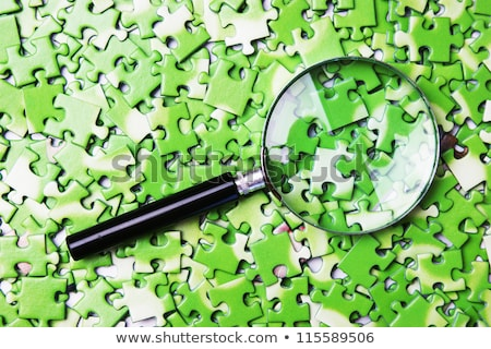 Magnifying Glass - Answers Stock photo © kbuntu