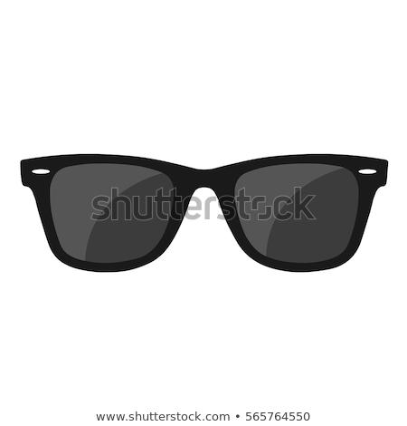 Plaj güneş gözlüğü kum güneşli su soyut Stok fotoğraf © sahua