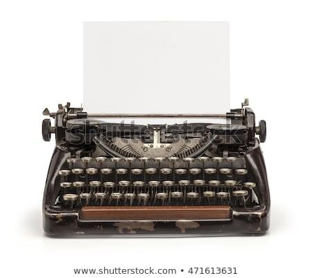 vintage typewriter isolated stock photo © elly_l