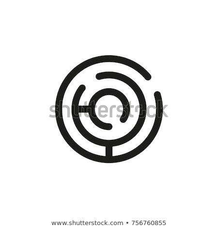 Stock fotó: Labirintus · ikonok · absztrakt · mértani · formák · grafikai · tervezés