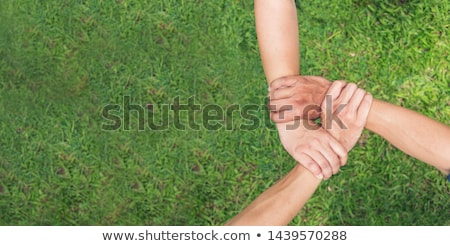 three friends hold hands together Stock photo © Paha_L