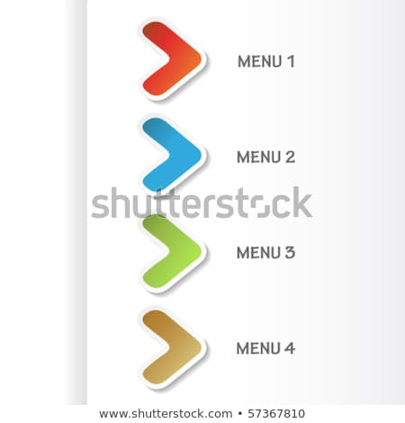 Paper arrows - modern navigation items Stock photo © orson