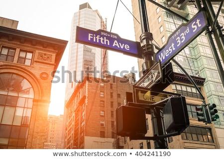 wall · street · assinar · New · York · City · EUA · cidade · rua - foto stock © phbcz