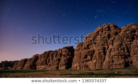 blue stars over violet background Stock photo © marinini