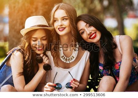 Moda kız kroki Gotik dokunmayın kalem Stok fotoğraf © Artlover